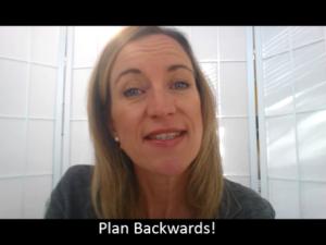 Plan Backwards