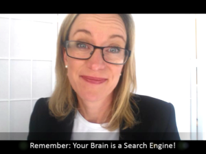 your brain is  a search engine