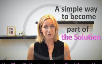 One Simple Way To Become Part Of The Solution