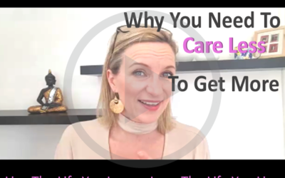 How to get more by caring less