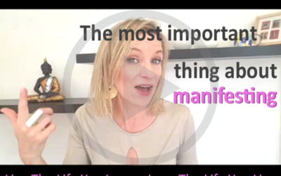 The most important thing about manifesting